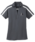 Ladies STUNT Silk Touch Performance Colorblock Stripe Polo