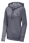 Ladies PosiCharge ® Tri-Blend Wicking Fleece Hooded Pullover