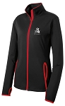 Ladies STUNT Stretch Black/Red Full-Zip Jacket