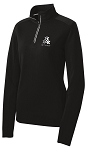 Ladies STUNT Sport-Wick Textured 1/4-Zip Pullover