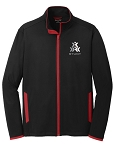 Men's STUNT Stretch Black/Red Full-Zip Jacket